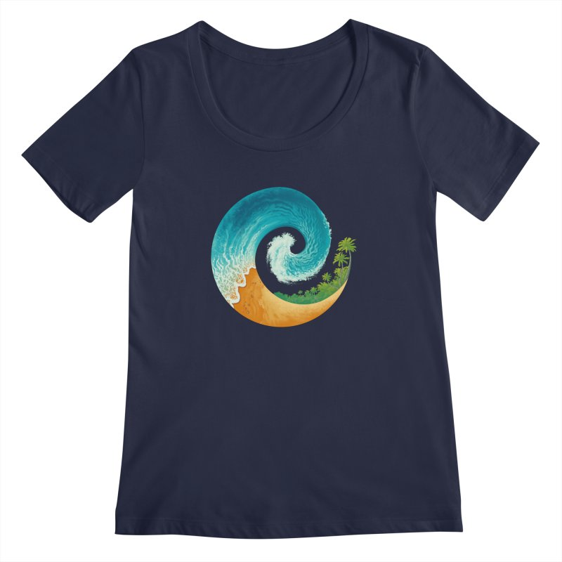 Spiral Beach Women's Regular Scoop Neck by Waynem