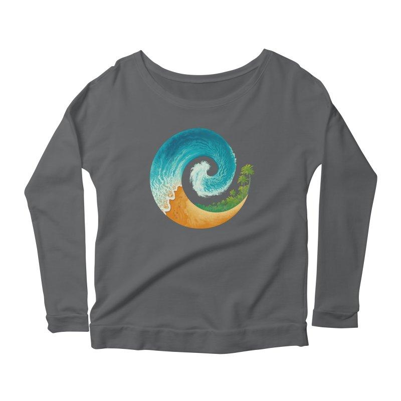 Spiral Beach Women's Scoop Neck Longsleeve T-Shirt by Waynem