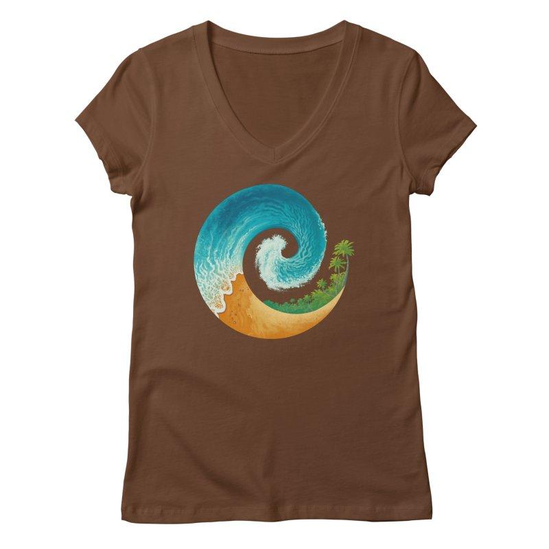 Spiral Beach Women's Regular V-Neck by Waynem