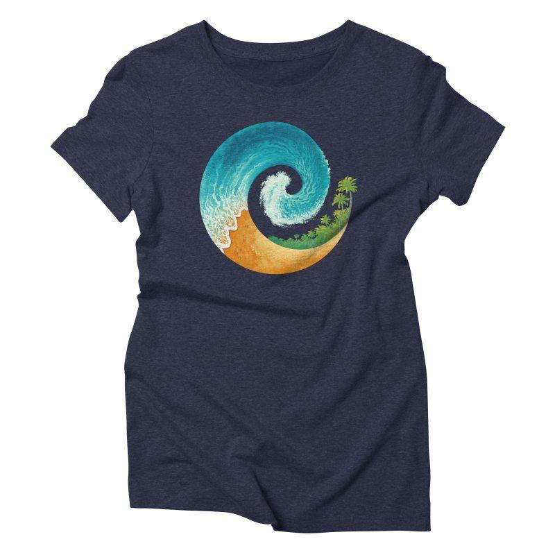 Spiral Beach Women's Triblend T-Shirt by Waynem