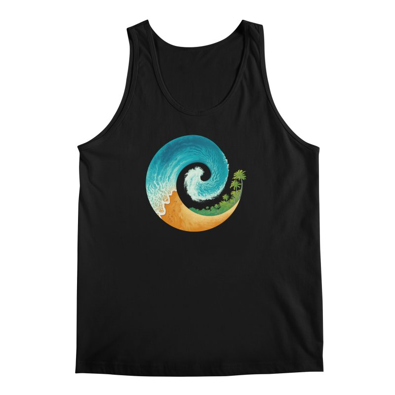Spiral Beach Men's Regular Tank by Waynem