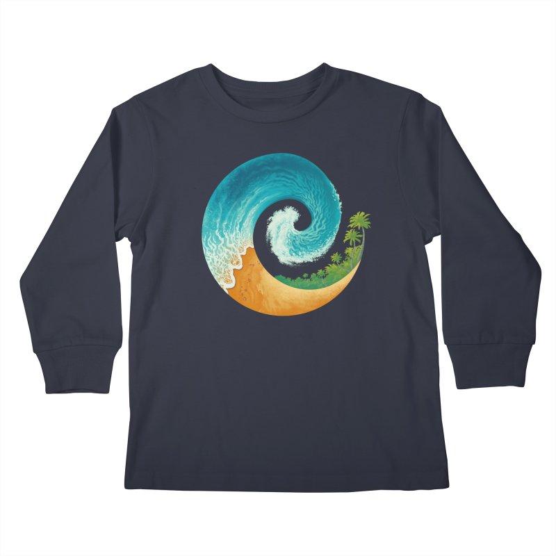 Spiral Beach Kids Longsleeve T-Shirt by Waynem