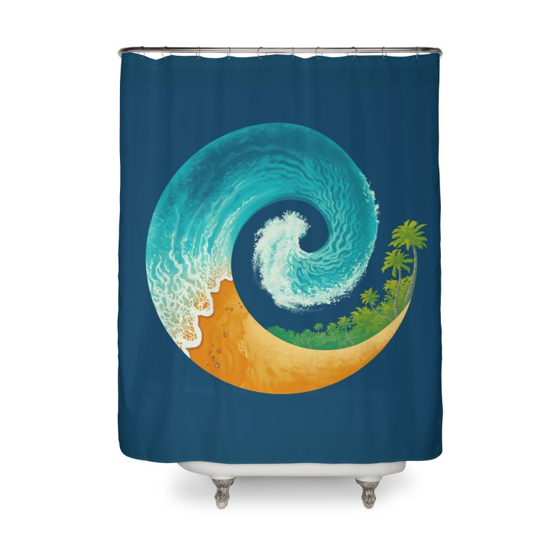 Spiral Beach Home Shower Curtain by Waynem