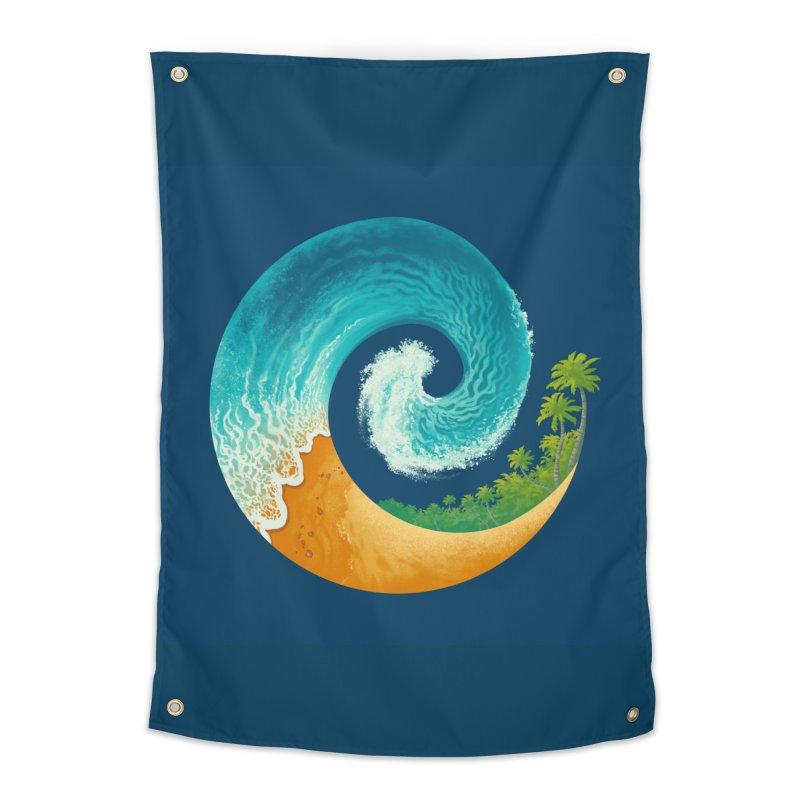 Spiral Beach Home Tapestry by Waynem