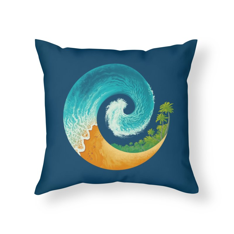 Spiral Beach Home Throw Pillow by Waynem