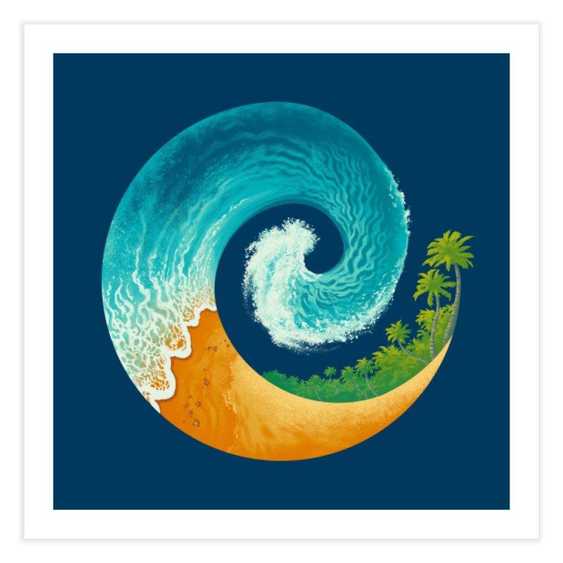 Spiral Beach Home Fine Art Print by Waynem