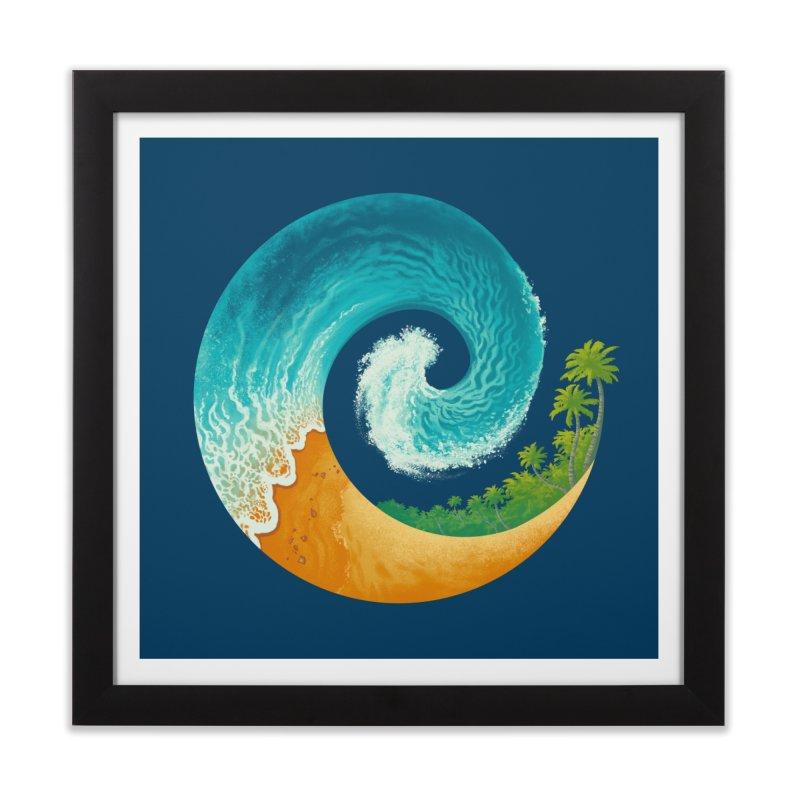 Spiral Beach Home Framed Fine Art Print by Waynem