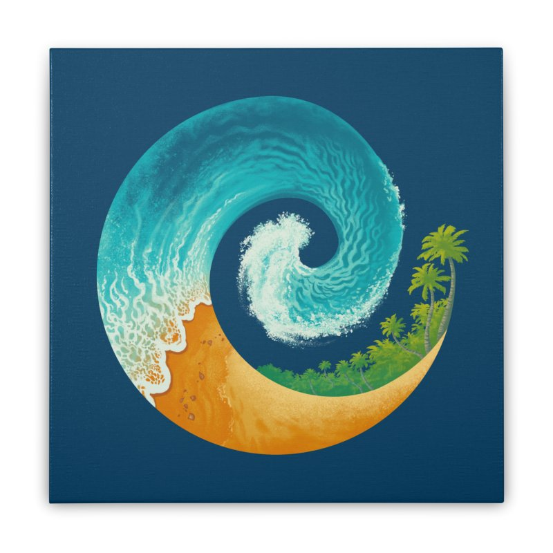 Spiral Beach Home Stretched Canvas by Waynem