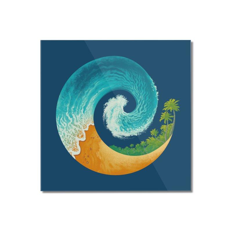 Spiral Beach Home Mounted Acrylic Print by Waynem