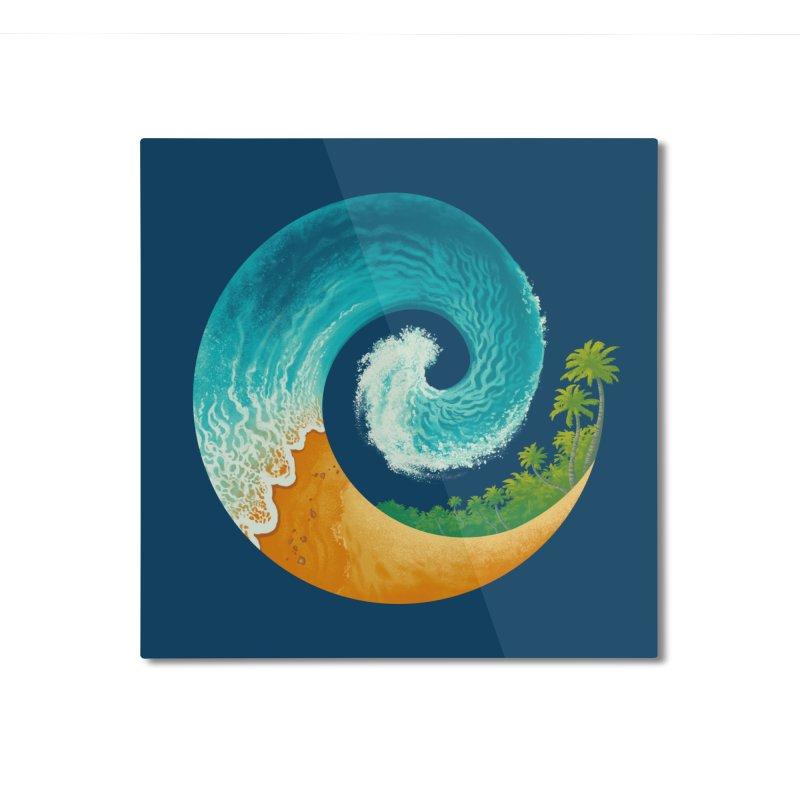 Spiral Beach Home Mounted Aluminum Print by Waynem