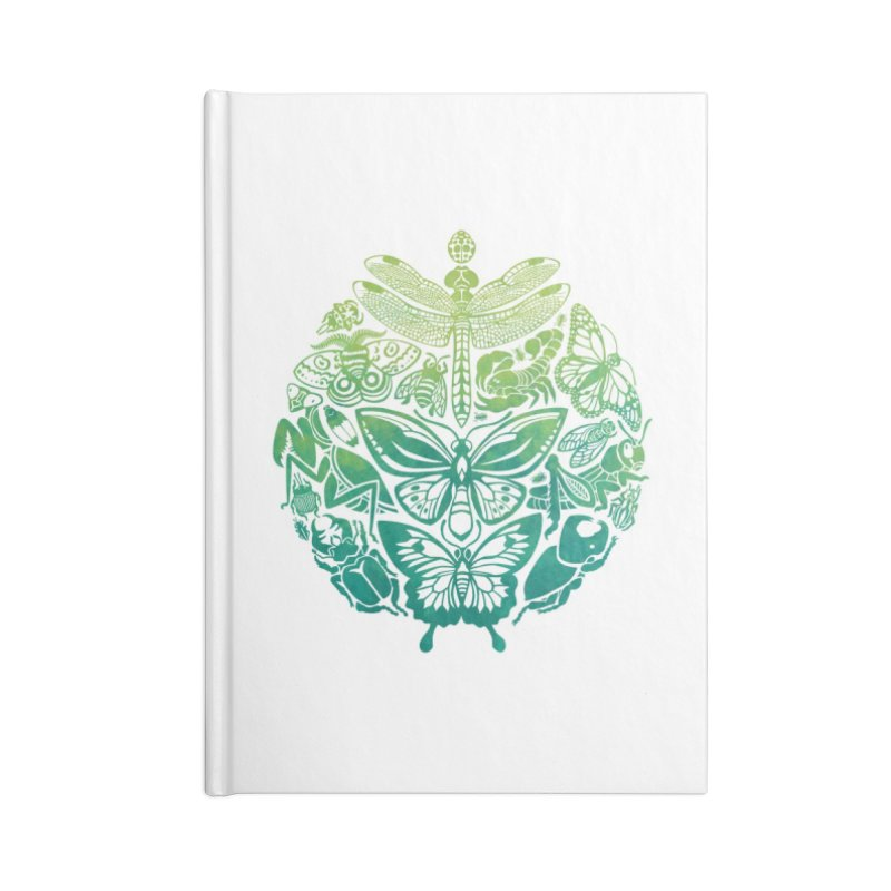 Bugs & Butterflies: Green Accessories Notebook by Waynem