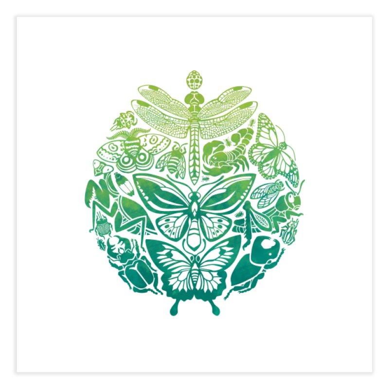 Bugs & Butterflies: Green Home Fine Art Print by Waynem