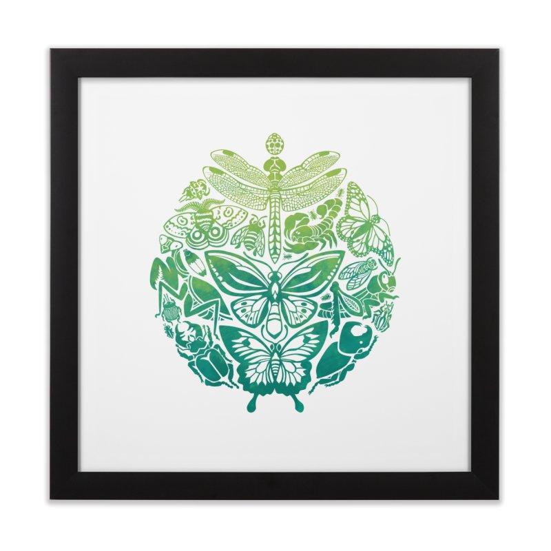 Bugs & Butterflies: Green Home Framed Fine Art Print by Waynem