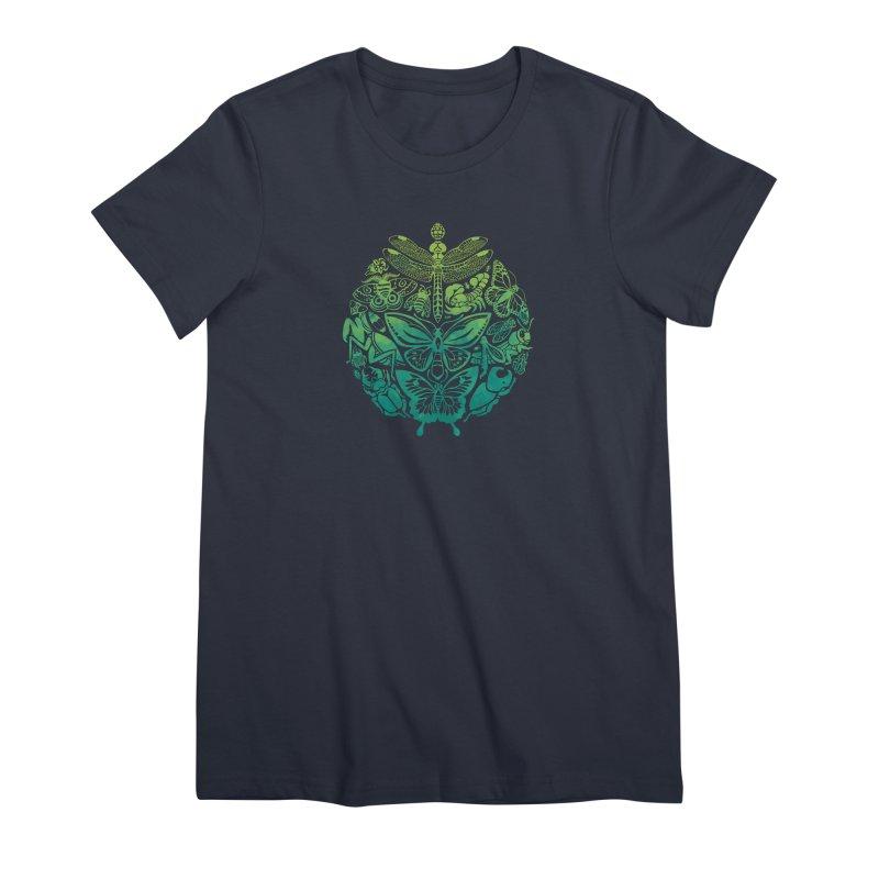 Bugs & Butterflies: Green Women's Premium T-Shirt by Waynem