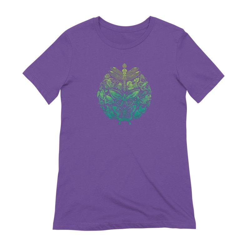 Bugs & Butterflies: Green Women's Extra Soft T-Shirt by Waynem