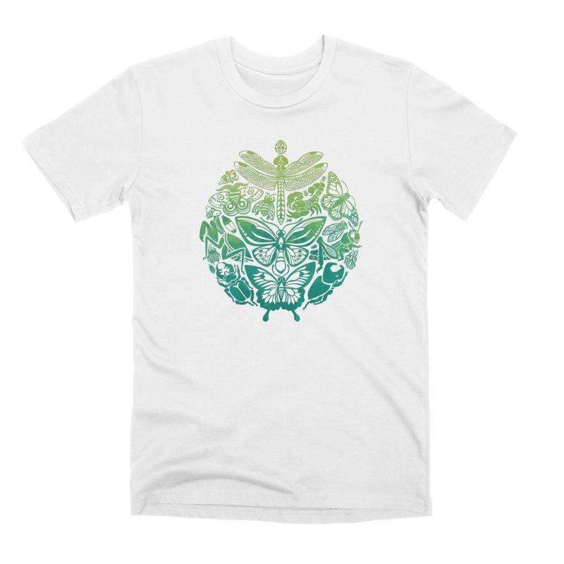Bugs & Butterflies: Green Men's Premium T-Shirt by Waynem