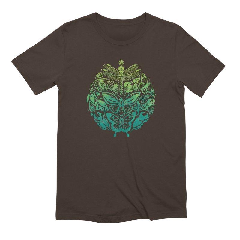 Bugs & Butterflies: Green Men's Extra Soft T-Shirt by Waynem