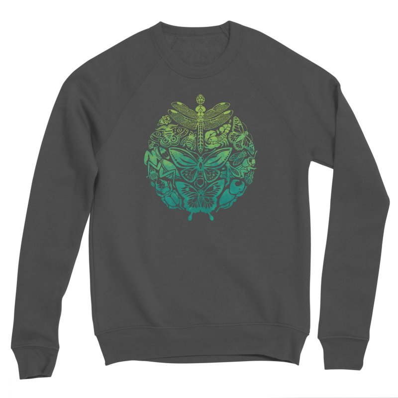 Bugs & Butterflies: Green Women's Sponge Fleece Sweatshirt by Waynem