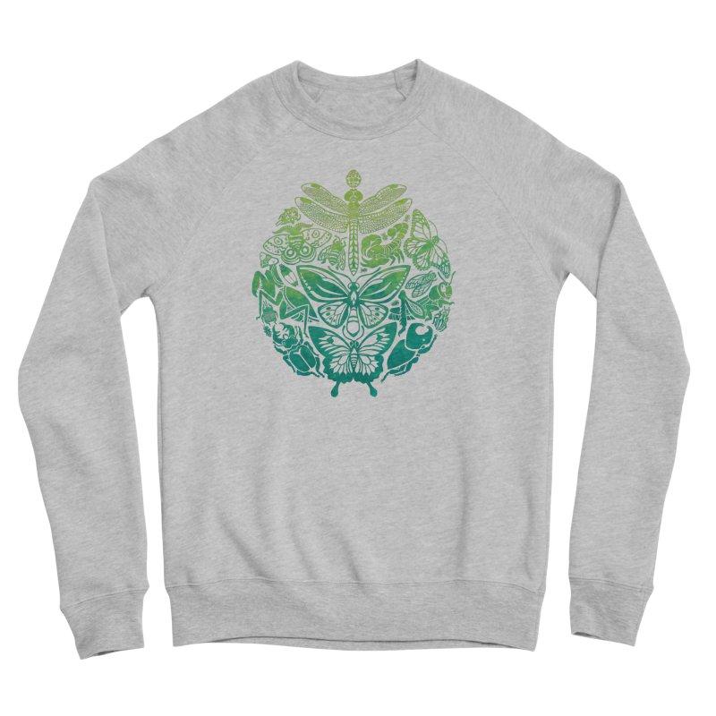 Bugs & Butterflies: Green Men's Sponge Fleece Sweatshirt by Waynem