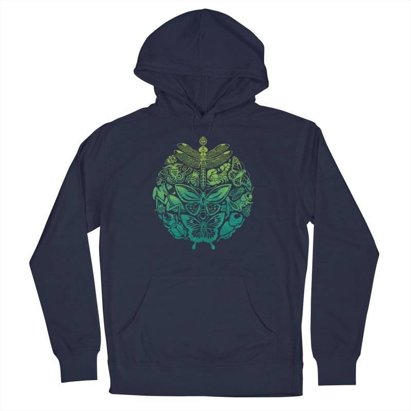 Bugs & Butterflies: Green Women's French Terry Pullover Hoody by Waynem