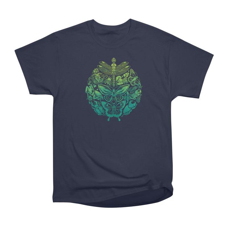 Bugs & Butterflies: Green Men's Heavyweight T-Shirt by Waynem
