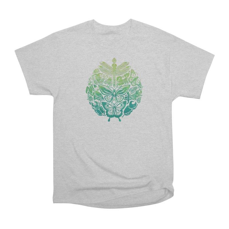 Bugs & Butterflies: Green Women's Heavyweight Unisex T-Shirt by Waynem