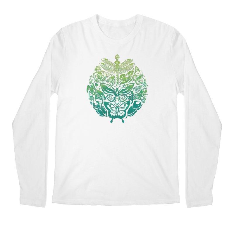 Bugs & Butterflies: Green Men's Regular Longsleeve T-Shirt by Waynem