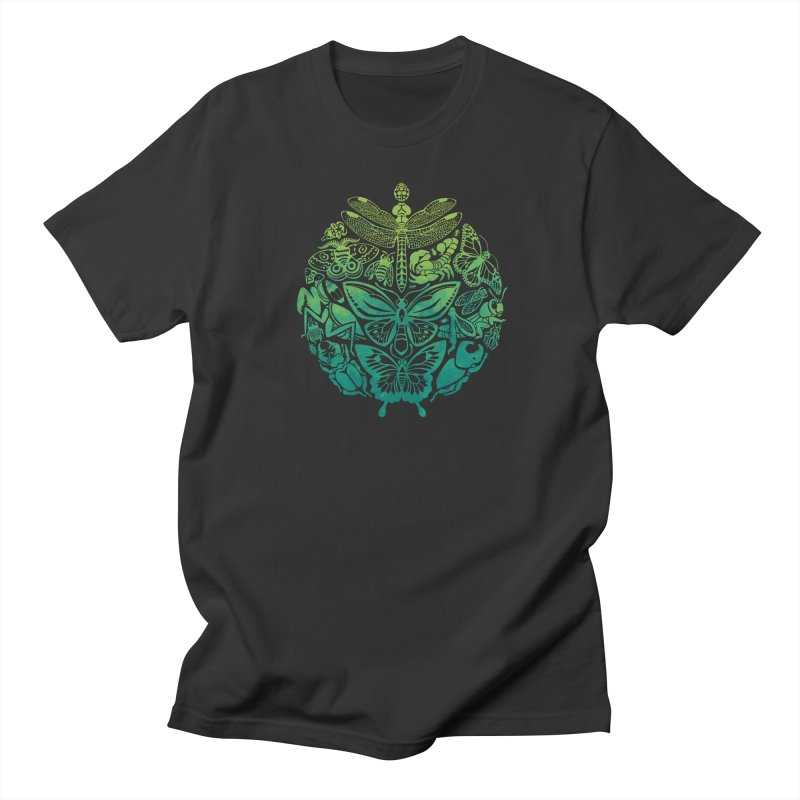 Bugs & Butterflies: Green Women's Regular Unisex T-Shirt by Waynem