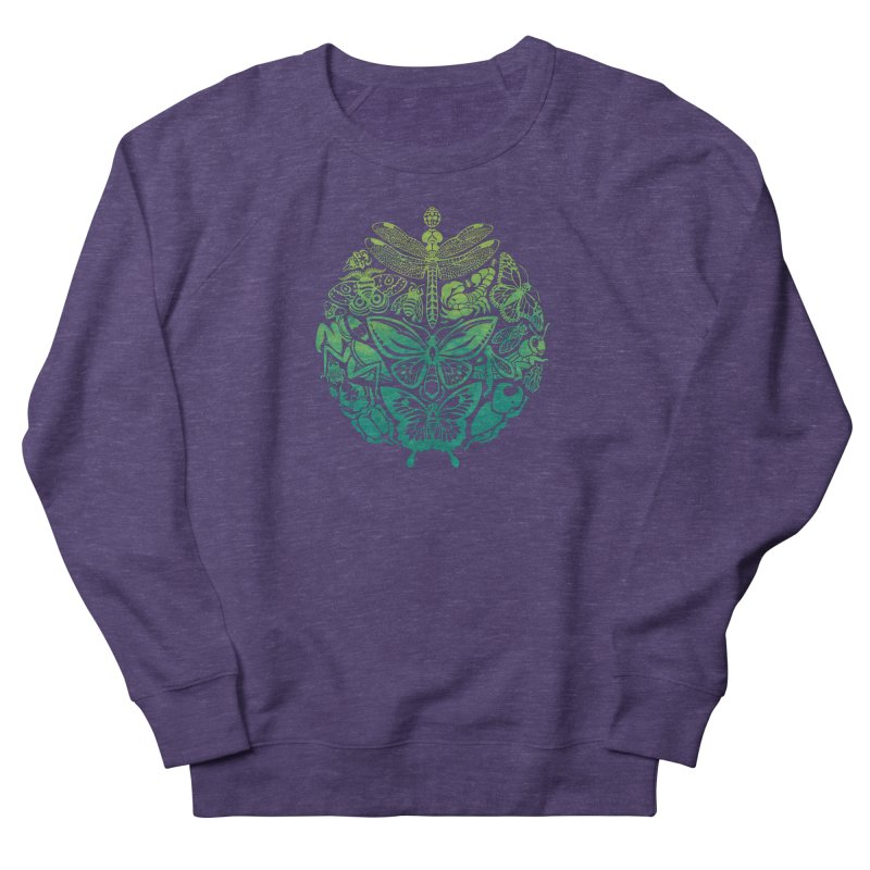 Bugs & Butterflies: Green Women's French Terry Sweatshirt by Waynem