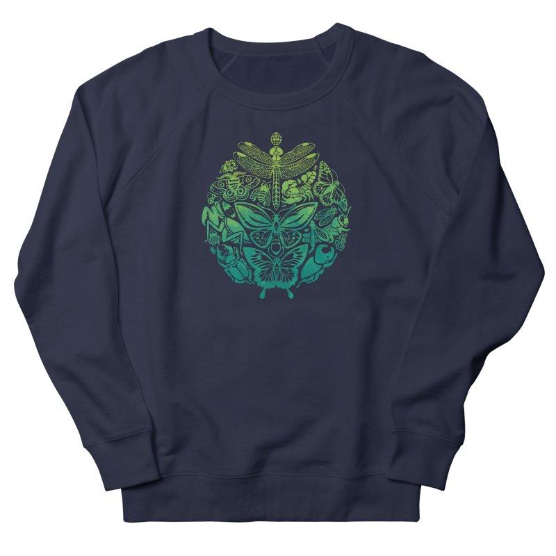 Bugs & Butterflies: Green Women's French Terry Sweatshirt by Waynem
