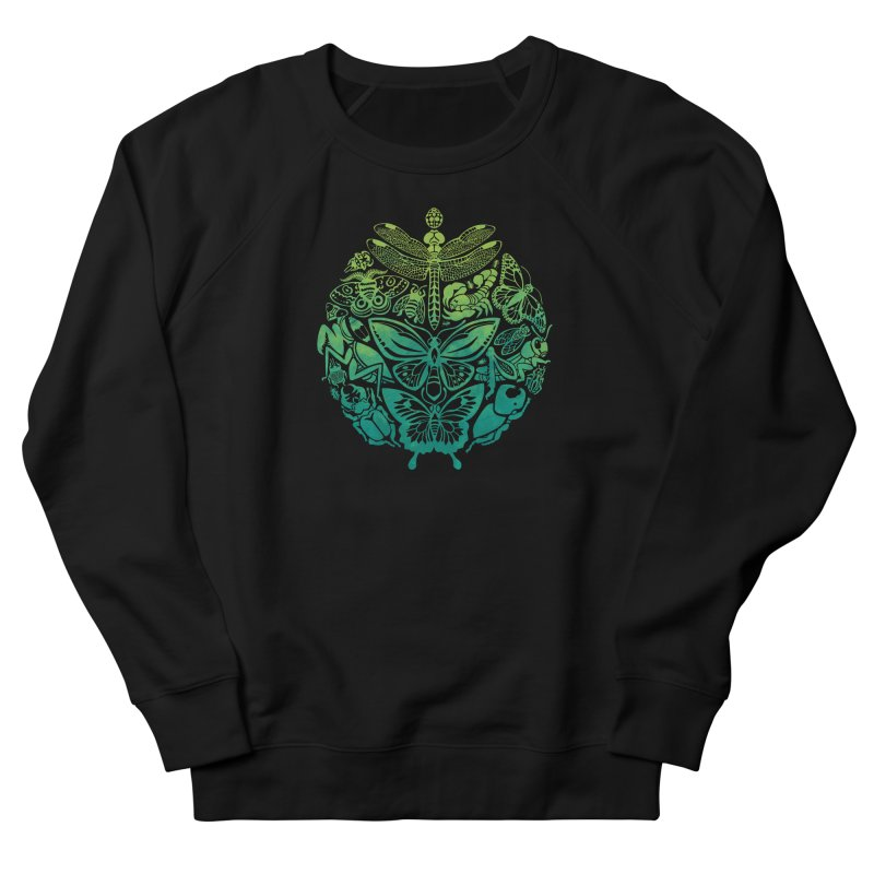 Bugs & Butterflies: Green Men's French Terry Sweatshirt by Waynem