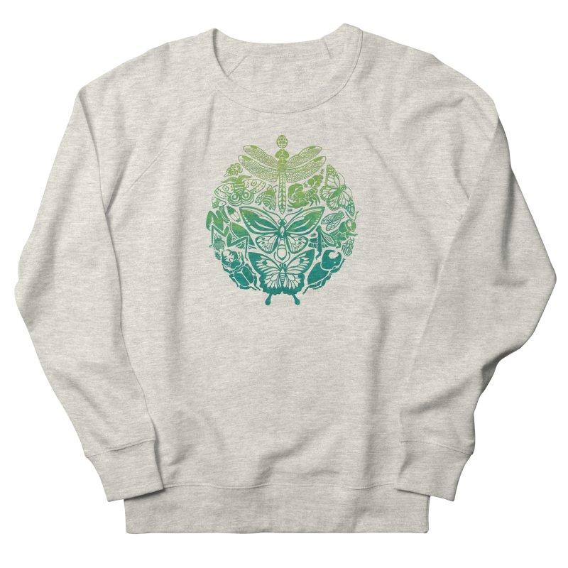 Bugs & Butterflies: Green Men's French Terry Sweatshirt by Waynem
