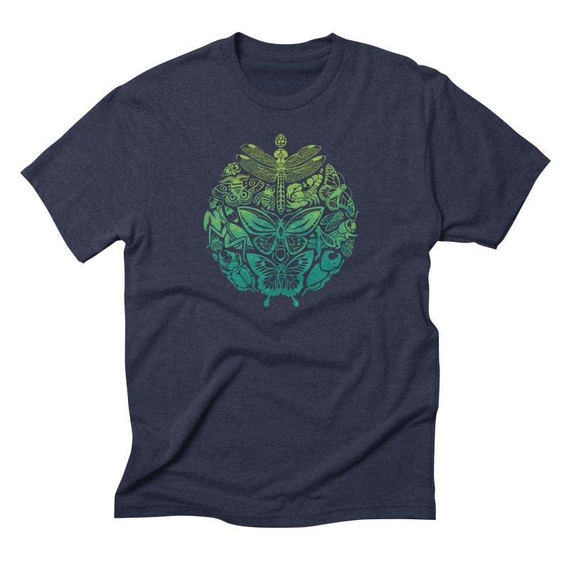 Bugs & Butterflies: Green Men's Triblend T-Shirt by Waynem