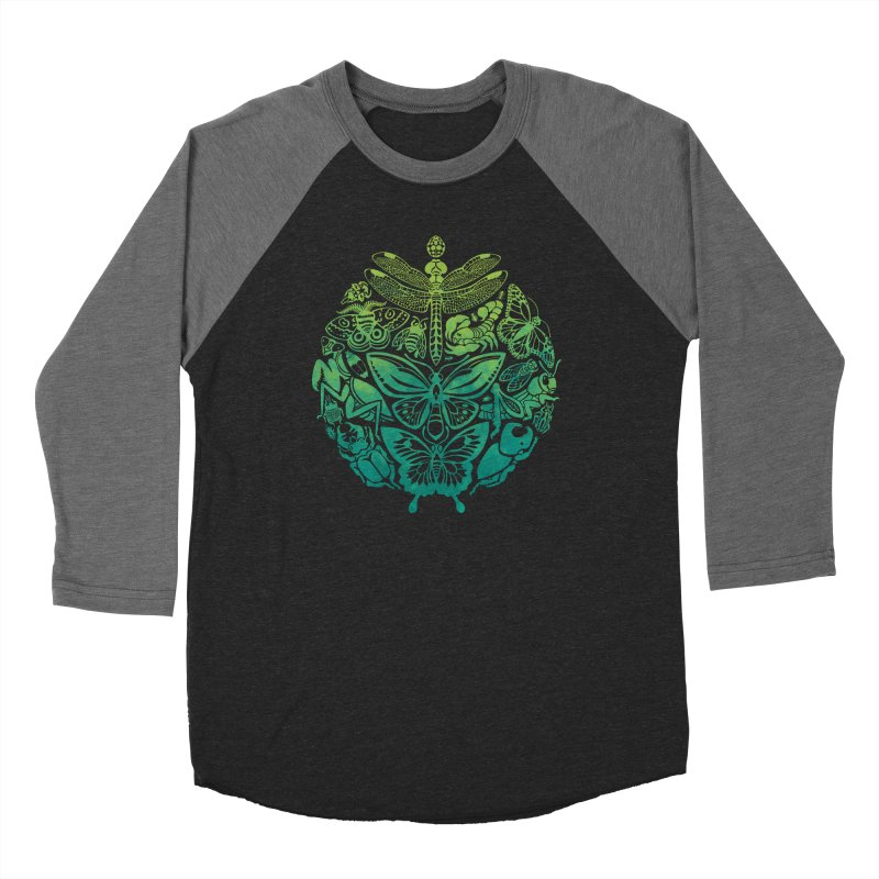 Bugs & Butterflies: Green Women's Baseball Triblend Longsleeve T-Shirt by Waynem