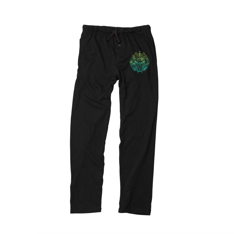 Bugs & Butterflies: Green Men's Lounge Pants by Waynem