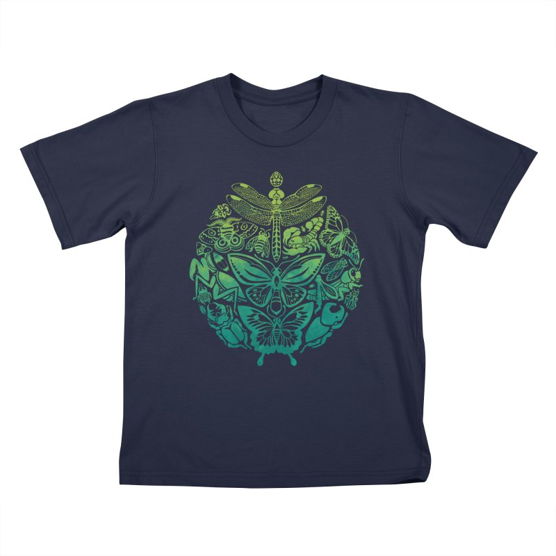 Bugs & Butterflies: Green Kids Toddler T-Shirt by Waynem
