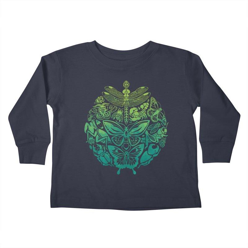 Bugs & Butterflies: Green Kids Toddler Longsleeve T-Shirt by Waynem