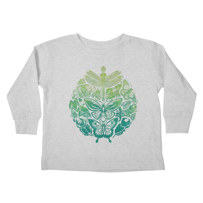 Bugs & Butterflies: Green Kids Toddler Longsleeve T-Shirt by Waynem