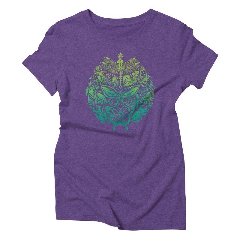 Bugs & Butterflies: Green Women's Triblend T-Shirt by Waynem