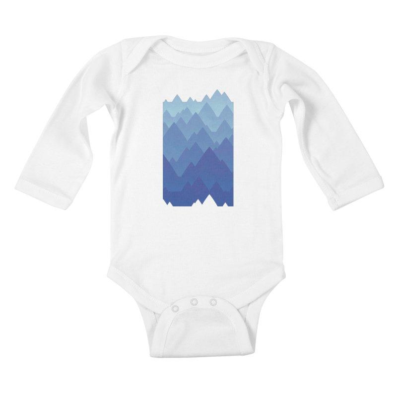 Mountain Vista Kids Baby Longsleeve Bodysuit by Waynem
