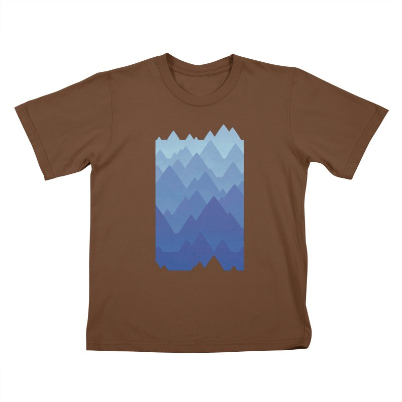 Mountain Vista Kids T-Shirt by Waynem