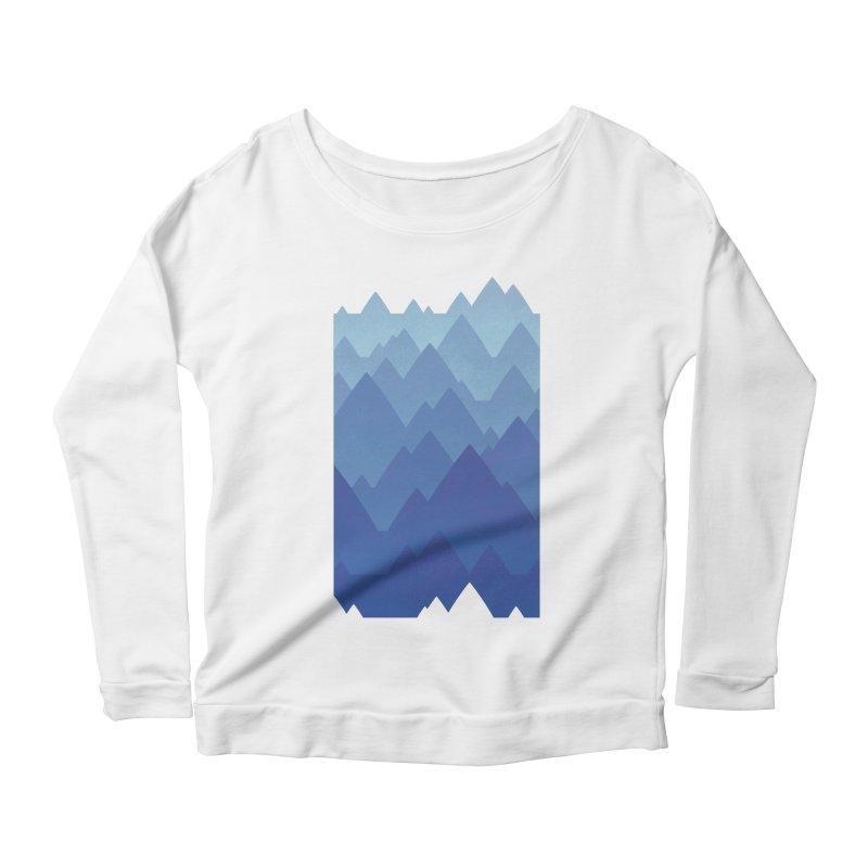 Mountain Vista Women's Scoop Neck Longsleeve T-Shirt by Waynem
