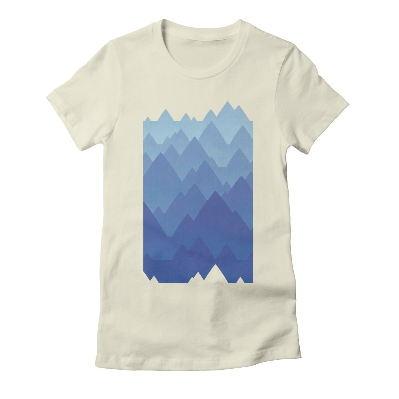 Mountain Vista Women's Fitted T-Shirt by Waynem