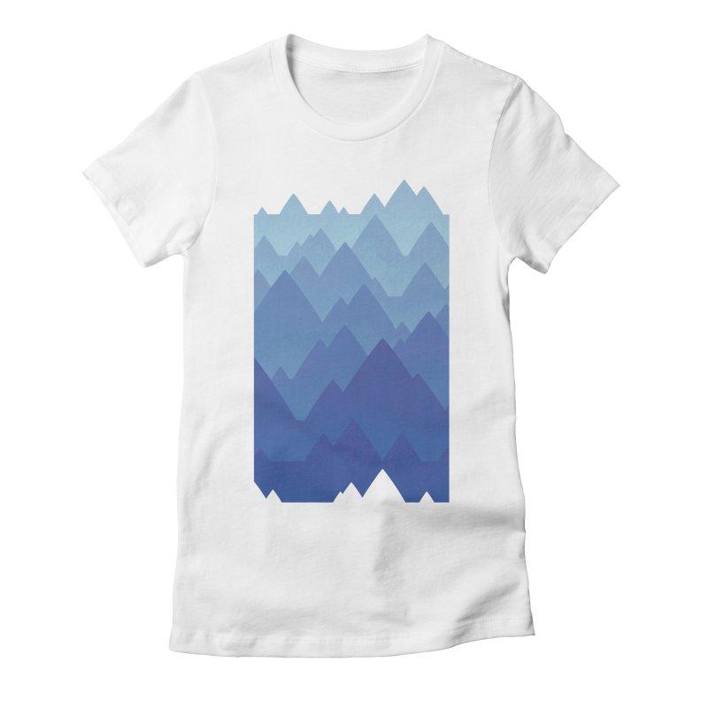Mountain Vista Women's Fitted T-Shirt by Waynem