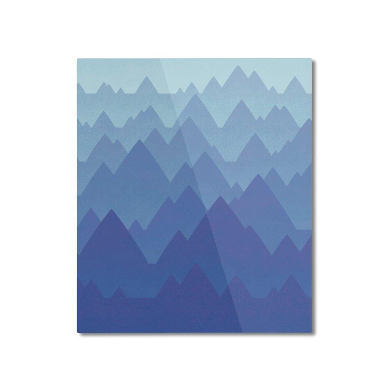 Mountain Vista Home Mounted Aluminum Print by Waynem