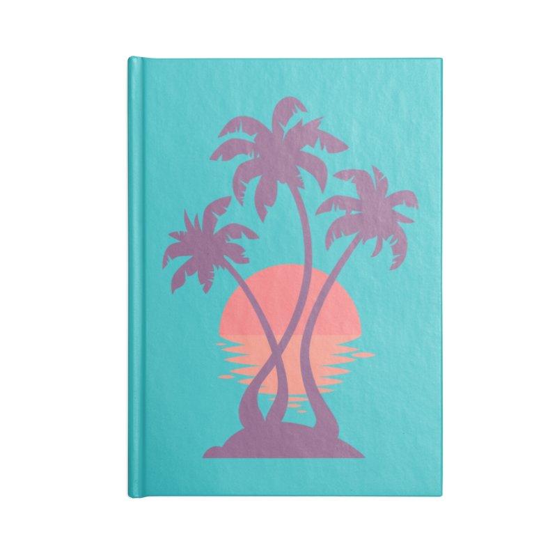 3 Palm Sunset Accessories Notebook by Waynem