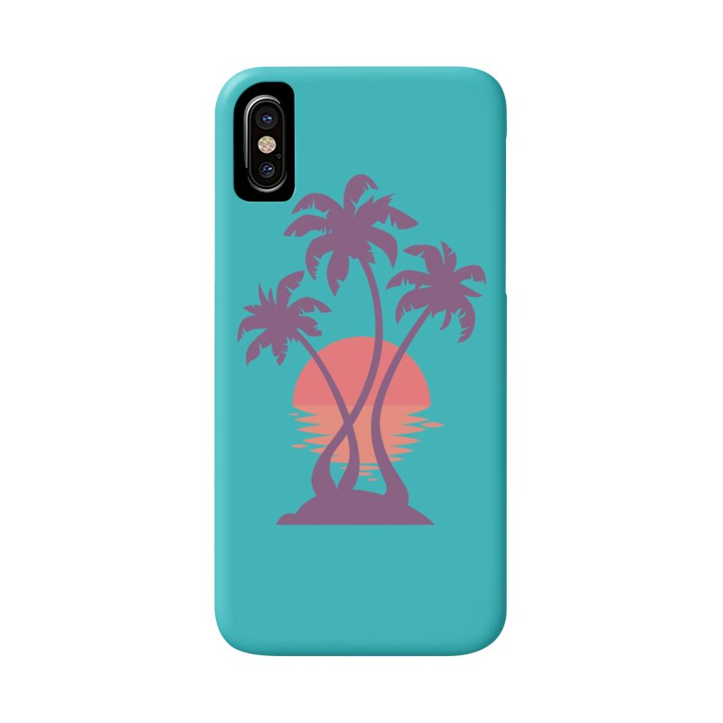 3 Palm Sunset Accessories Phone Case by Waynem