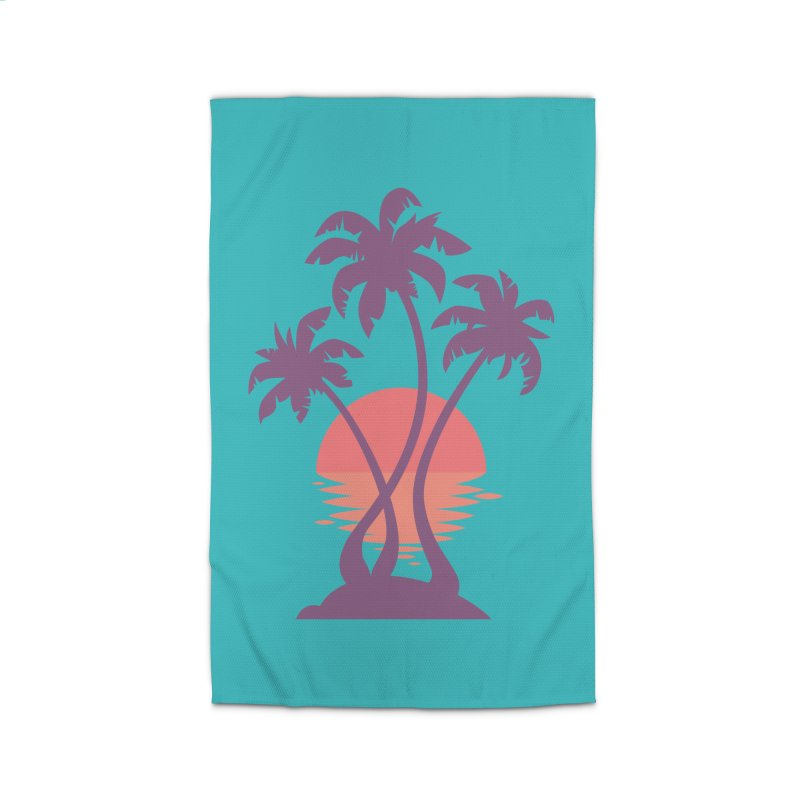 3 Palm Sunset Home Rug by Waynem