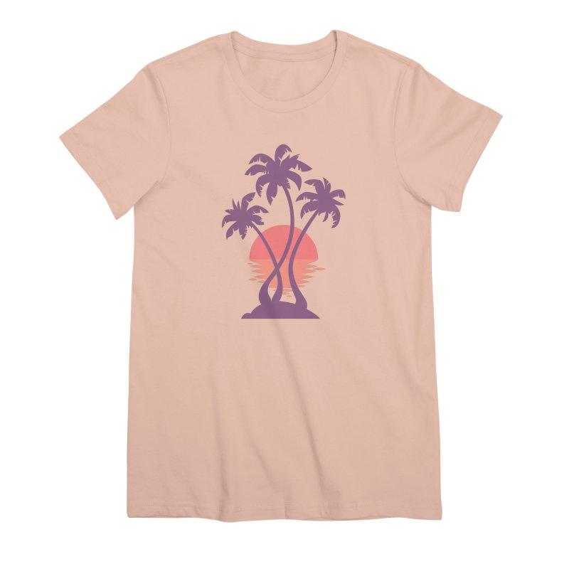 3 Palm Sunset Women's Premium T-Shirt by Waynem