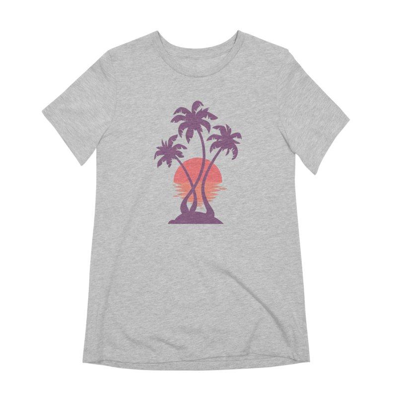 3 Palm Sunset Women's Extra Soft T-Shirt by Waynem